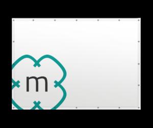 Mit Logo bedruckter Banner