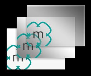 Schematische Abbilung drei verschiedener Schildmaterialien