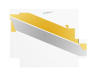 Briefpapier mit goldener und silberner Druckfläche