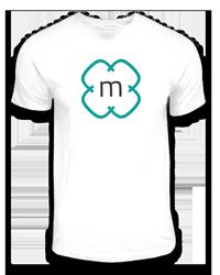 Weißes T-Shirt mit mediachefs-Logo